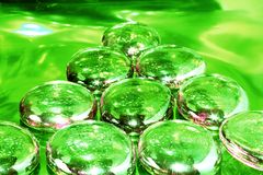 Pyramid on Drugs - green tone Royalty Free Stock Images