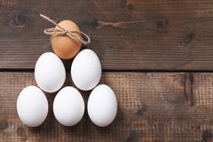 Pyramid of eggs Stock Images