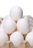 Pyramid Eggs White Royalty Free Stock Photography