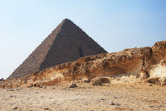 Pyramid in Egypt. The great ancient Pyramid of Cheops in Giza, near Cairo (Egypt Stock Images