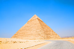 Pyramid of Egypt. View of the Giza Pyramids. Egypt. Cairo. Stock Photo
