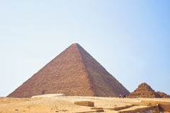 Pyramid of Egypt. View of the Giza Pyramids. Egypt. Cairo. Stock Images