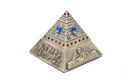 Pyramid with Egyptian figures Stock Images