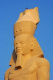 Pyramid - Egyptian Sphinx. Close up of egyptian sphinx Royalty Free Stock Photo
