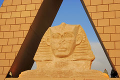 Pyramid - Egyptian Sphinx. Close up of egyptian sphinx Royalty Free Stock Image