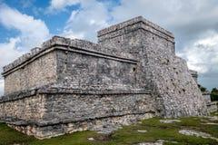 Pyramid El Castillo The Castle in Tulum Stock Photo