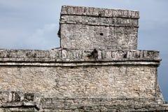 Pyramid El Castillo slotten i Tulum Royaltyfri Fotografi