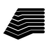 Pyramid emblem infographic icon Stock Image