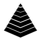 Pyramid emblem infographic icon Royalty Free Stock Photos