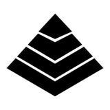 Pyramid emblem infographic icon Royalty Free Stock Image