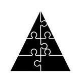 Pyramid emblem infographic icon Royalty Free Stock Photo