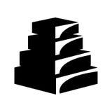 Pyramid emblem infographic icon Stock Photo