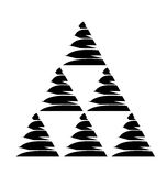 Pyramid emblem infographic icon Stock Photos