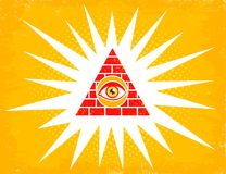 Pyramid with eye Royalty Free Stock Images