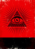 Pyramid and the eye Stock Photography