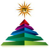 Pyramid with eye of god. Royalty Free Stock Photo