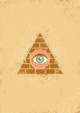 Pyramid and eye Stock Photo