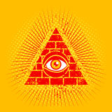 Pyramid and eye Royalty Free Stock Images