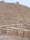 pyramid för huacalima peru pucllana Royaltyfria Bilder