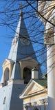 Pyramid för Klocka torn Arkivbild