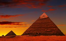 Pyramid fantasy stock images