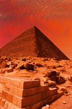 Pyramid fantasy Stock Photo