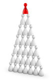 Pyramid from figure Royalty Free Stock Photo