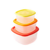 Pyramid of food containers  Stock Photo