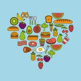 Pyramid food illustration Royalty Free Stock Photo