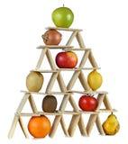 Pyramid food three Royalty Free Stock Images