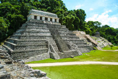 Pyramid in the forest, Temple of the Inscriptions. Palenque, Mexico Stock Photos