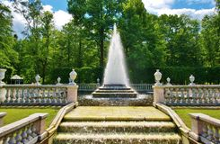 Pyramid Fountain Peterhof Stock Photo
