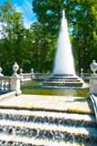 Pyramid Fountain in Peterhof Stock Photography