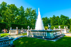 Pyramid Fountain in Peterhof Royalty Free Stock Photo