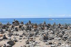 Pyramid från stenar Arkivbild