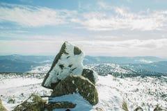 Pyramid från stenar Royaltyfria Bilder