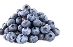 Pyramid of fresh blueberries Stock Images