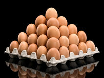 Free Pyramid From Brown Eggs Stock Photo - 91120380