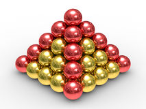 Free Pyramid From Metal Spheres On A White Background Stock Photo - 11145540