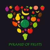 Pyramid of fruits Royalty Free Stock Photos