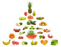 Pyramid of fruits and vegetables. Stock Photography