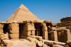 Pyramid Funerary Temple Ruins Khafre Giza Stock Photography