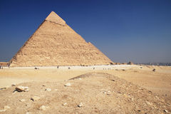 Pyramid in Giza. The great ancient Pyramid of Chephren in Giza, near Cairo (Egypt Royalty Free Stock Photo