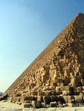 Pyramid at Giza. Side of one the pyramids Royalty Free Stock Image