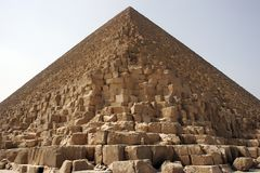 Pyramid of giza. Pyramid of pharaoh cheops at giza, egypt Royalty Free Stock Photo