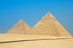 Pyramid in Giza. Two pyramid in Giza (Egypt Stock Photos