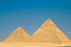 Pyramid in Giza. Two pyramid in Giza (Egypt Royalty Free Stock Photo