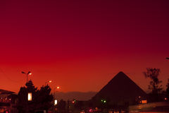 Pyramid of Giza in the morning Royalty Free Stock Photos