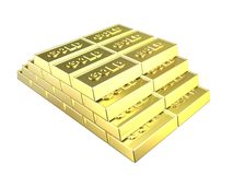 Pyramid of Gold bars Royalty Free Stock Images