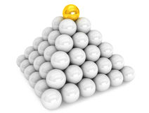 Pyramid with golden ball Stock Photo